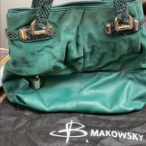 B Makowsky leather/suede bag